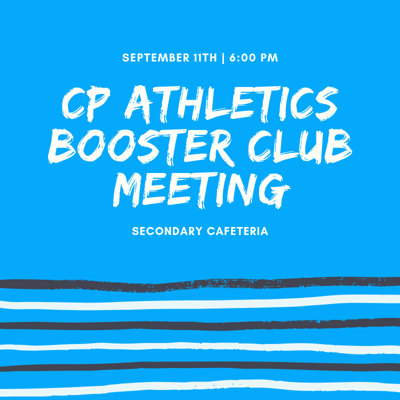 Booster club meeting notice