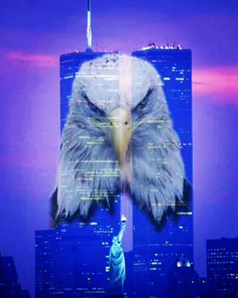 Twin Towers with Eagle