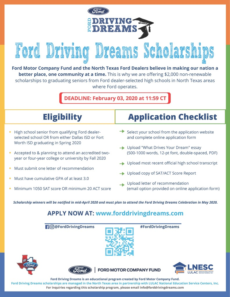 Ford Scholarship